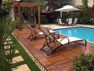 Wood deck tiles - The newest trend of exterior setting in summer